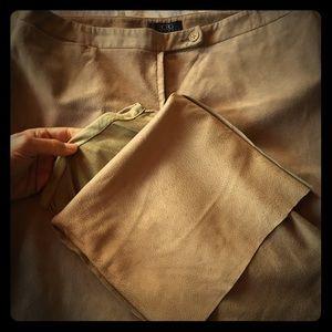 BCBG Max Azria 100% Suede Dress Pants